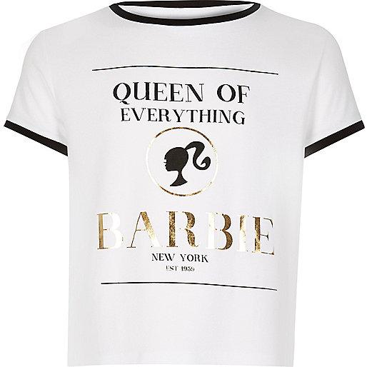 Girls cream Barbie t-shirt