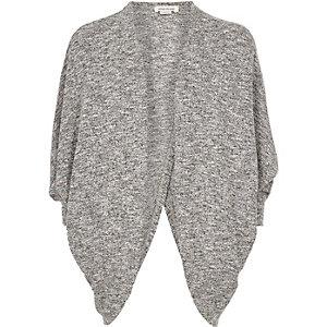Cardigan gris chiné drapé pour fille