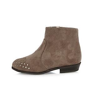 Mini girls stone laser cut Western boots