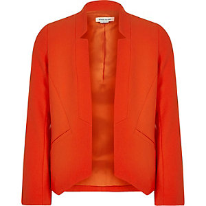 Girls red smart blazer