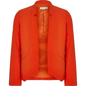 Girls red smart blazer