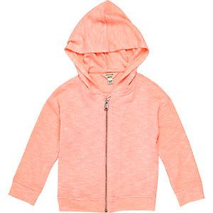 Mini girls coral hoodie