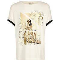 T-Shirt in Creme