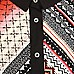 Ensemble leggings et chemise motifs aztèques rouge pour fille