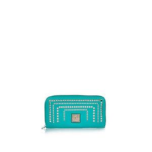Girls blue laser cut purse