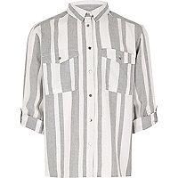 Chemise rayée grise pour fille
