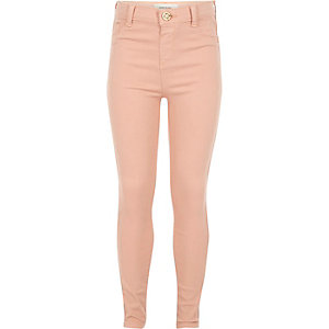 Girls rose high-waisted Molly jeggings
