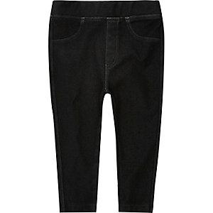 Graue Leggings in Jeans-Optik