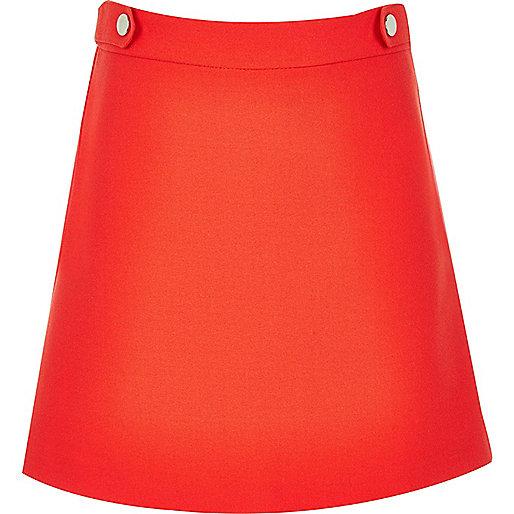 Girls red A-line skirt