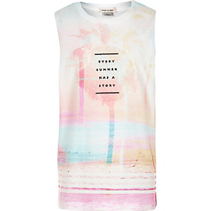 Girls tropical print tank top
