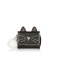 Porte-monnaie à deux rabats Magie Noire motif chat pour fille
