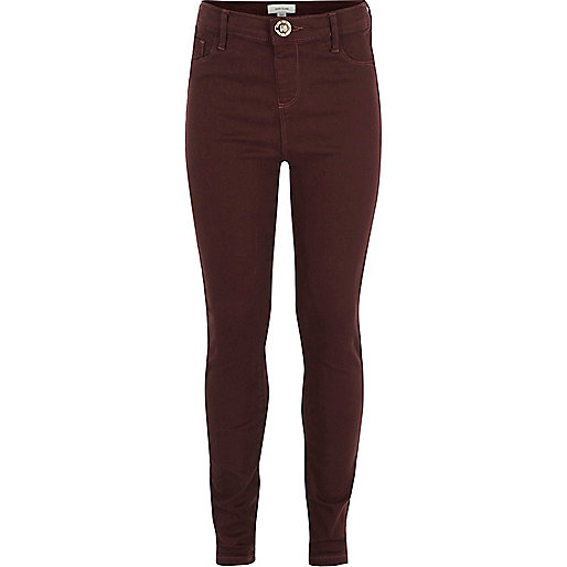 Jegging Molly rouge baie taille haute pour fille