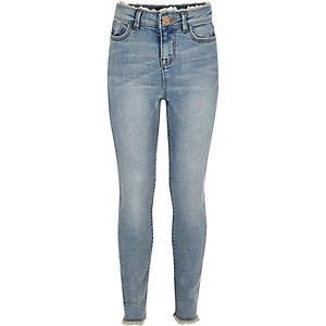 Girls light blue wash Amelia slim fit jeans