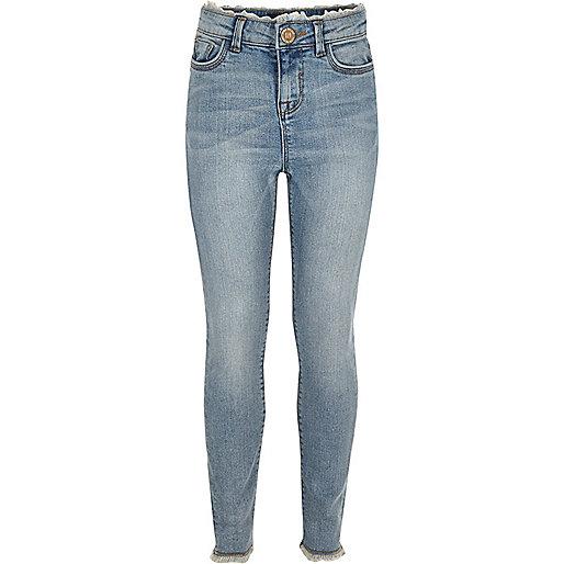 Girls light blue wash Amelia slim fit jeans