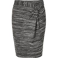 Girls grey twist knot skirt