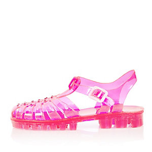 Girls pink jelly sandals