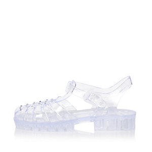 Girls white jelly sandals