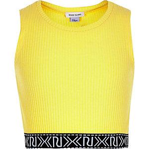 Girls yellow branded crop top