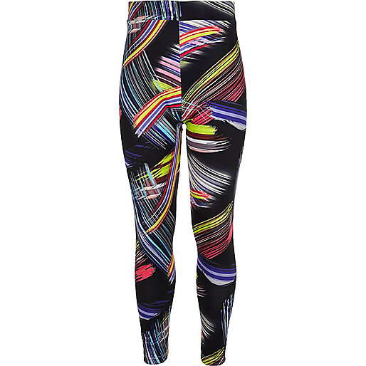 Girls pink swirl print leggings