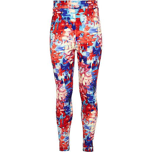 Girls multi print leggings