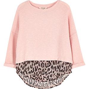 Lagenoberteil mit Leopardenmuster in Pink