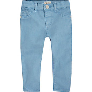 Mini girls bright blue skinny jeans