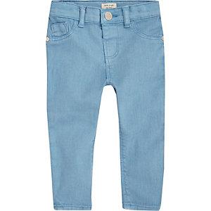 Jean skinny bleu vif pour petite fille