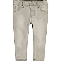 Mini girls grey skinny jeans