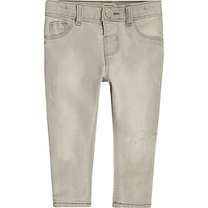 Mini girls grey skinny jeans