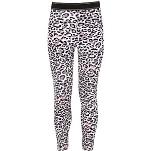 Girls pink leopard print leggings