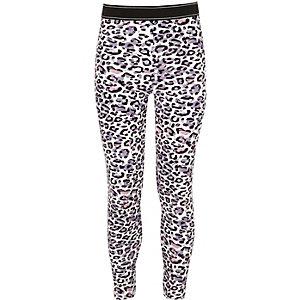 Leggings à imprimé léopard rose pour fille