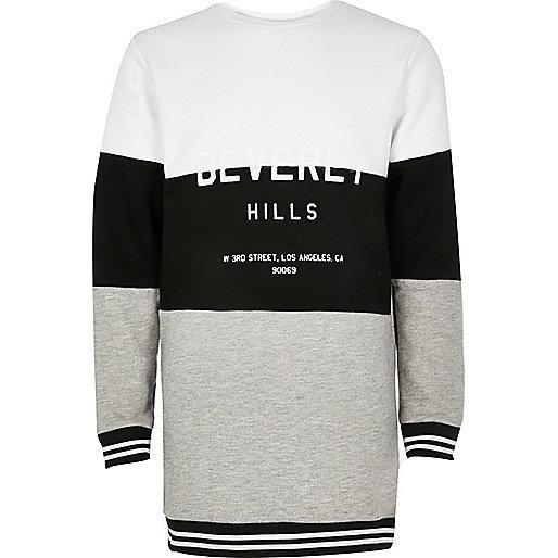 Girls grey oversized sweatshirt