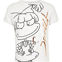 Girls white Angelica Rugrats t-shirt
