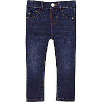 Mini girls blue wash skinny jeans