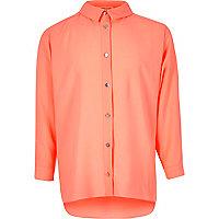 Girls coral oversized shirt