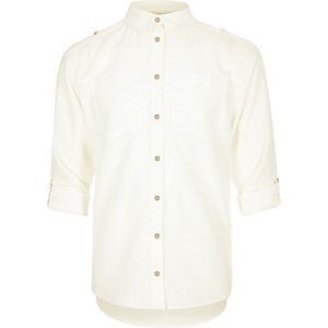 Girls white military shirt
