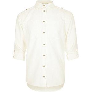 Chemise militaire blanche pour fille