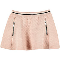 Jupe patineuse rose jacquard mini fille