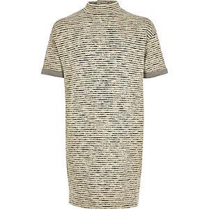 Graues, gestreiftes Kokon-Kleid
