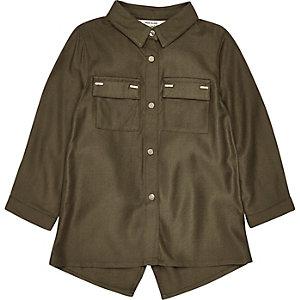 Hemd mit Saum in Khaki-Metallic