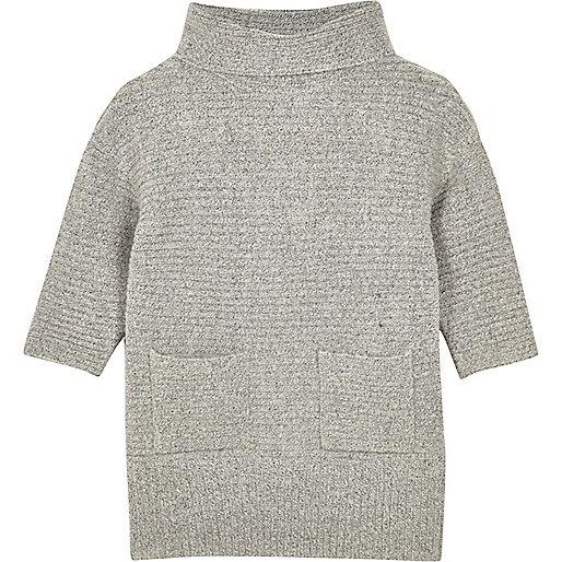 Robe pull à col roulé pour mini fille