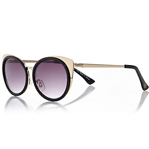 Girls black cat eye sunglasses