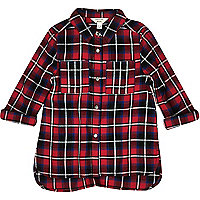 Mini girl red check shirt