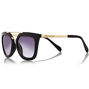 Girls black square sunglasses