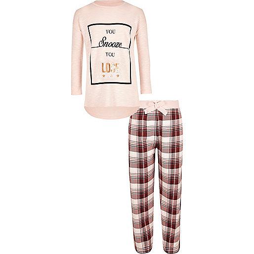 Ensemble pyjama rose ample pour fille