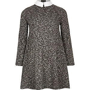 Girls grey Peter Pan collar dress