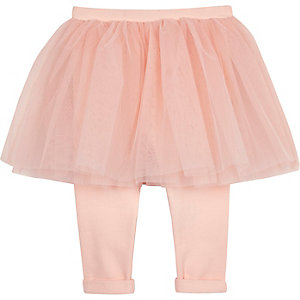 Mini girls pink tutu legging combo