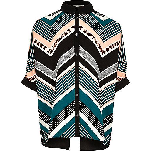 Girls black stripe shirt