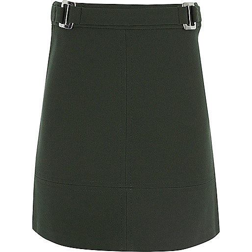 Girls khaki A-line skirt