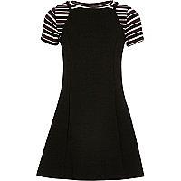 Girls black 2 in 1 dress